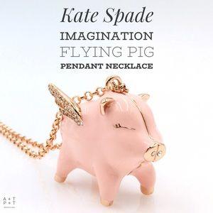 Kate Spade Imagination Flying Pink Pig Locket